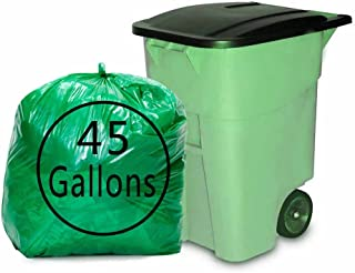 Kekow 45 Gallon Large Trash Bags, Green Drum Liners, 64 Counts