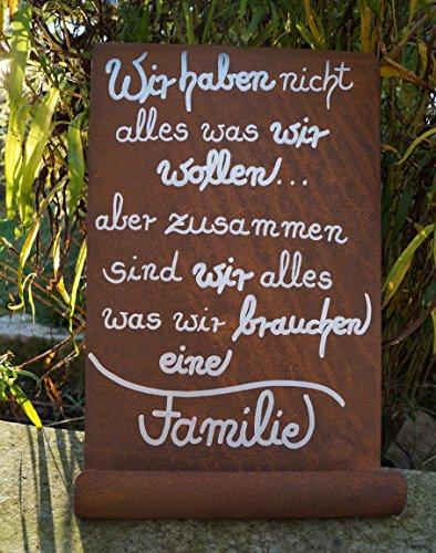 Dekostüberl Rostalgie Edelrost Tafel Wir haben Nicht Alles.Gedichttafel Schild Spruch Metall Wandschmuck