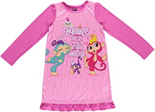 2e5e29981c Girls Long Sleeve Fingerlings Nightgown - Pink Fingerlings Nightgown Set  (Pink