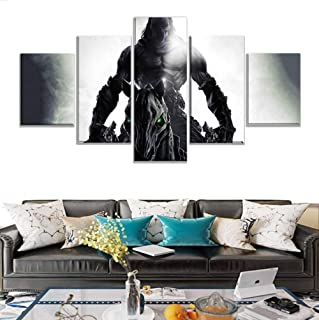 sasdasld Prints Pictures Home Decoration Wall Artwork 5 Panel Darksiders 2 Game Death Knight Modular Poster Abstract Painting On Canvas-20CMx35/45/55CM