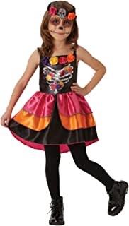 Day Of The Dead Sugar Skull Girls Costume Size XL