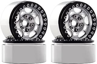 INJORA 1.9 inch Beadloack Wheel Rims for RC Crawler Traxxas TRX4 Axial SCX10 90046 90047 D90,1 10 Scale,Aluminum Alloy,4PCS