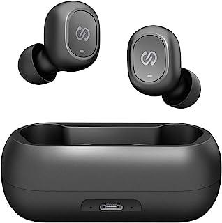 ワイヤレスイヤホン SoundPEATS(サウンドピーツ) TrueFree Bluetooth 5.0 フルワイヤレス イヤホン 完全ワイヤレスイヤホン 基本音量向上 左右独立型 自動ペアリング 20時間再生 マイク内蔵 両耳通話 防水 小型 軽量 TWS ブルートゥース ヘッドホン トゥルーワイヤレス ヘッドセット [メーカー1年保証] (ブラック)