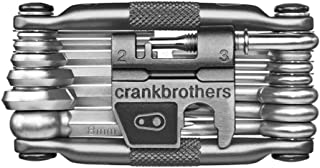 CRANKBROTHERs Crank Brothers Klic HP High Volume Bike Tire Pump with Co2 Adaptor and M19 Multi Bicycle Tool Kit