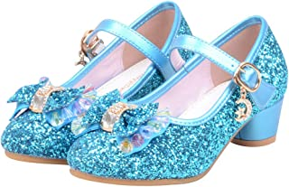 Deloito Toddler Baby Girls Boys Bowknot Crystal Bling Single Princess Shoes Wedding Party Low-Medium Casual Dance Shoes fo...