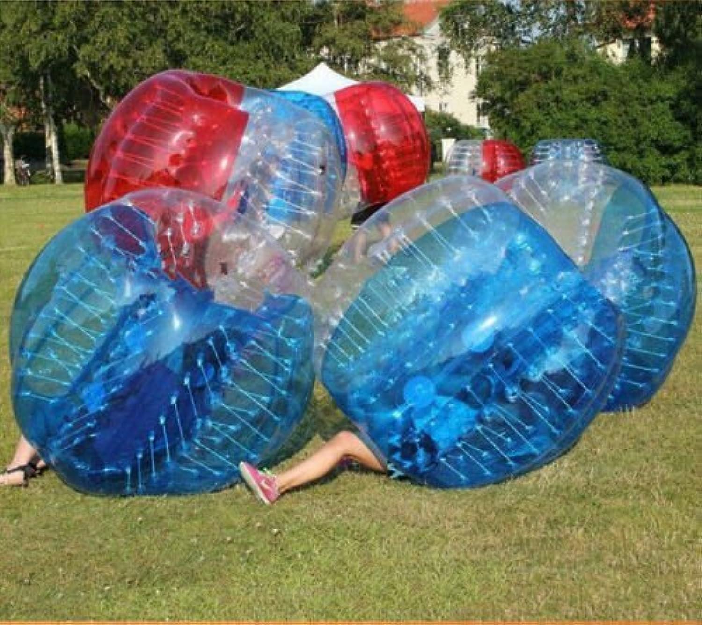 BubBlau24 (TM) 4 Bubble Bälle Paket für für für Körper Zorbing, aufblasbar Echthaar Türklopfer Ball Bubble Soccer Fußball Spiel mit 1 gratis Pumpe B01FOBDMPE  Billig c0fa8f