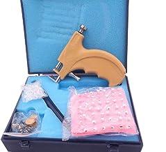 1 تنظیم حرفه ای فولاد ایمنی گوش گوش بدن لب بینی نوئل سوراخ کردن بدن صیقل ایمنی Pierce ابزار کیت زیبایی با 108 گوش ستدس گوشواره تنظیم قلم Asepsis و مورد ذخیره سازی
