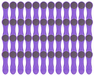 Pinces à linge - pince en matière douce et adhérente - violet - 48 pinces