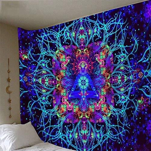 KHKJ Tapiz de caleidoscopio Colorido con impresión 3D, Tapiz Hippie, Tapiz psicodélico, Tapiz Bohemio, decoración del hogar, A3 200x150cm