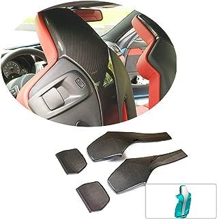 MCARCAR KIT Seat Back Cover fits BMW F80 M3 F82 F83 M4 2014-2018 Customized Real Dry Carbon Fiber CF Interior Trim Backseat Cap Accessories 4pcs/Set
