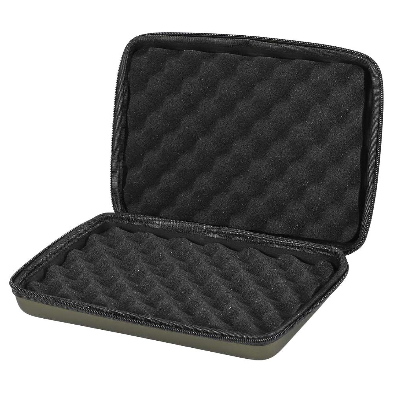 Lixada フィッシングタックルボックス パッド 入りバイトアラーム 収納ケース フィッシングツール 保護ボックス
