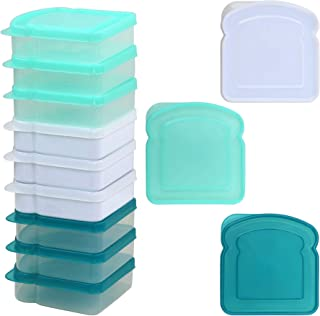 Mainstays Sandwich Containers, Assorted Colors, 12-Pack