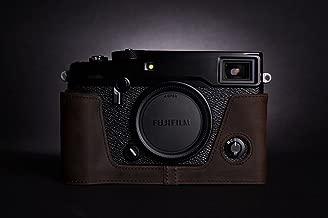 Handmade Genuine real Leather Half Camera Case bag cover for Fuji X-Pro 2 Fujifilm X-Pro2 Bottom opening Version - Coffee