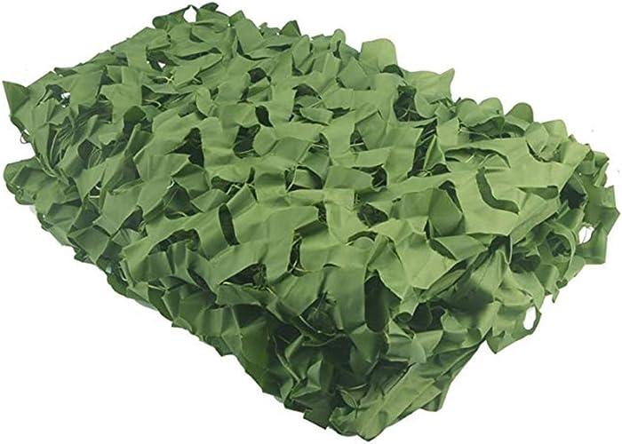 Voiles d'ombrage GGjin Filet Pare-Soleil Camouflage, Stores De Tente en Tissu Oxford Auvent, Enfants Camping Armée Photographie Cachée Décoration Extérieure (Vert) (Taille   10x10m)