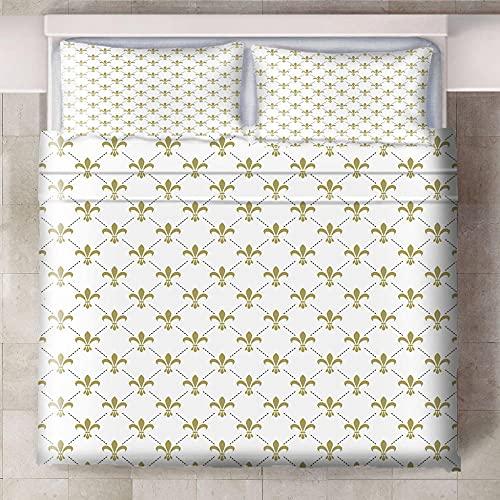 Teqoasiy - Duvet Cover - 3D Gult Kreativt Mönster 240x220cm Mikrofiber Duntäcke - Med 2 Örngott - Sovrum Dekorativ Säng - Mycket Mjuk - Med Dragkedja - Polyester Sängkläder