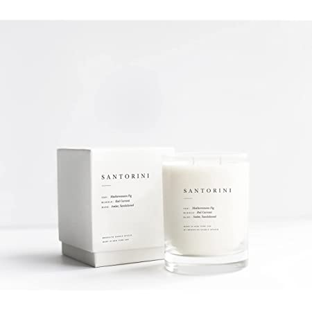 Brooklyn Candle Studio Santorini Escapist Candle | Vegan Soy Wax Luxury Scented Candle, Hand Poured in The USA, 70 Hour Slow Burn Time (13 oz)