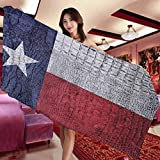 Western Decor Collection Hotel and Spa Comfortable Bath Towel Texas State Flag Painted on Luxury Crocodile Snake Skin Patriotic Emblem Suitable for Bathroom Hotel spa and Kitchen W27 x L55 Inch Burgu