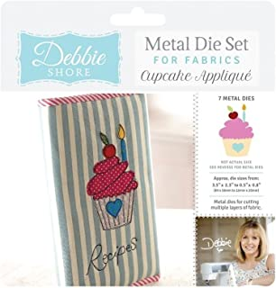 Crafter's Companion Debbie Shore Fabric - Cupcake Appliqué Die Set