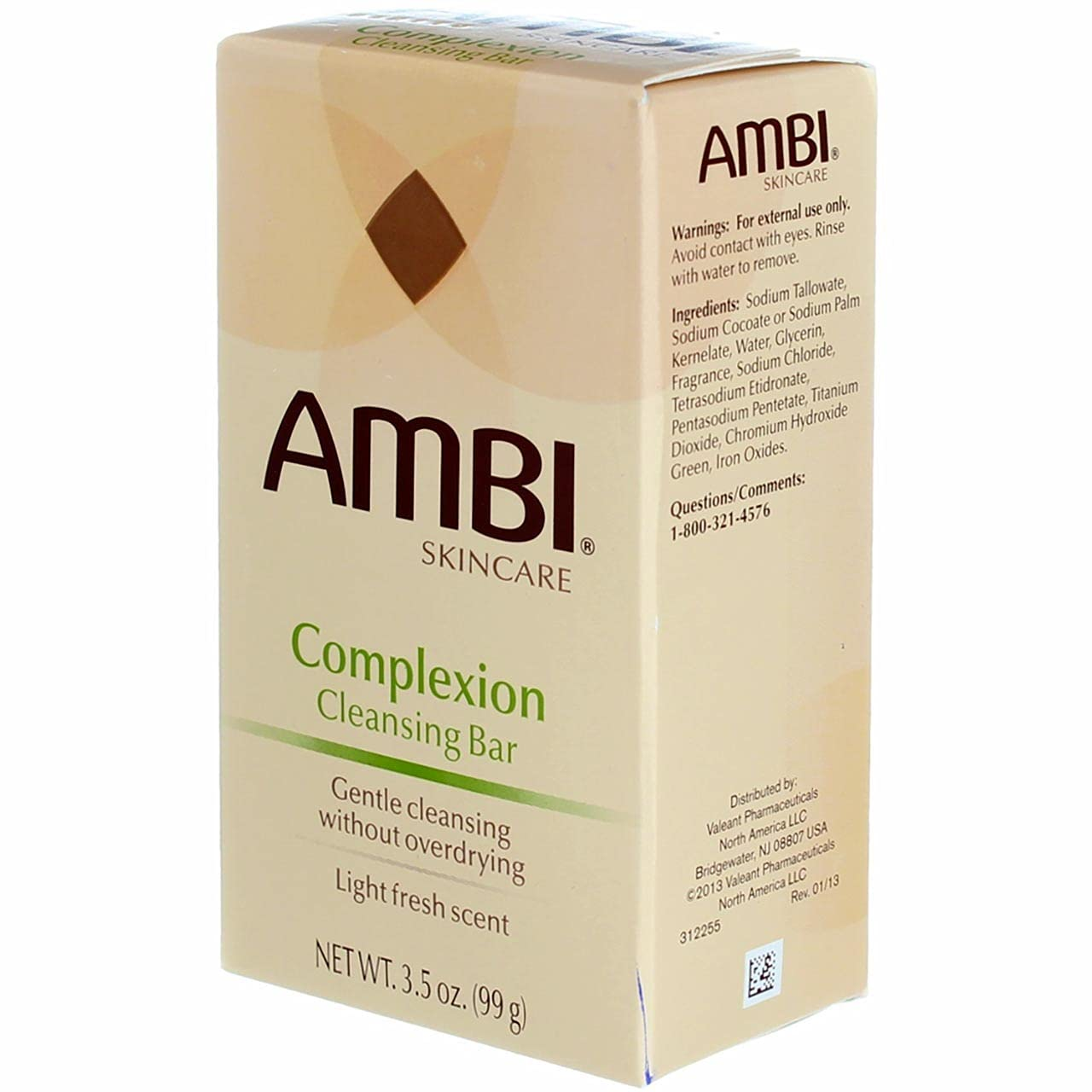 Ambi Skincare Complexion Cleansing Bar Soap | Gently Cleanses Skin without Overdrying | Enriched with Proven Cleansing Agents to Effectively Wash Away Surface Impurities | 3.5 Oz (2-Pack)