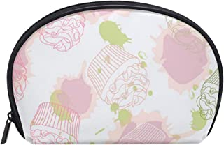 Pink Rose Cake Decorations Women's small cosmetic case for Cosmetic purse and Toiletries Organizer Bag Pack cosmetic travel bag