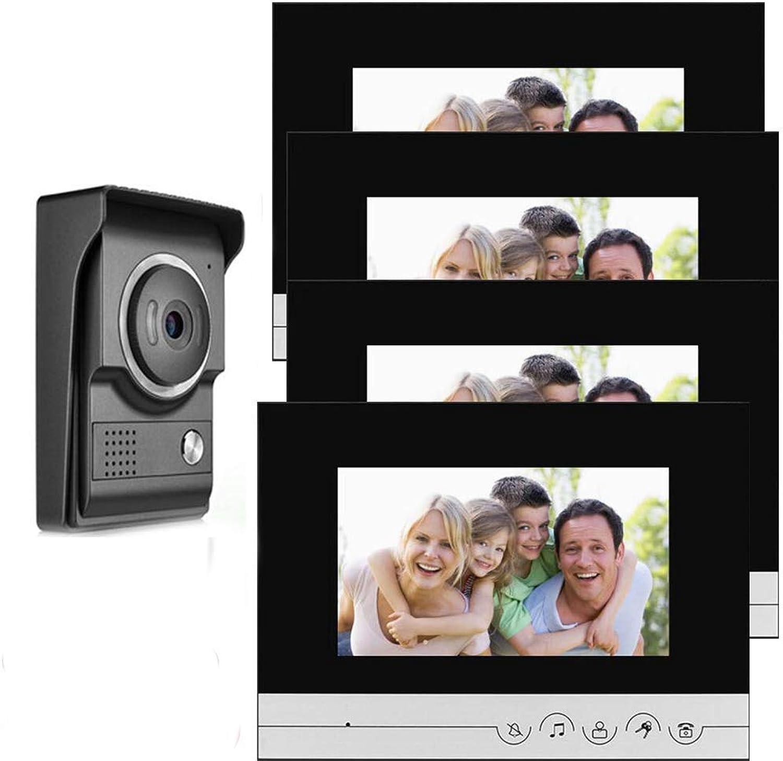 Todos los productos obtienen hasta un 34% de descuento. TQ Intercomunicador de Video Video Video con Cable, Sistema de Timbre de Video de 7 Pulgadas, 1 Monitor de cámara 4, Un botón para desbloquear, Timbre Impermeable para visión Nocturna,A  ventas en linea