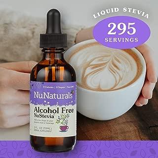 NuNaturals NuStevia Alcohol Free Liquid Stevia Drops Natural Liquid Sweetener, Sugar Free, 295 Servings (2 oz)