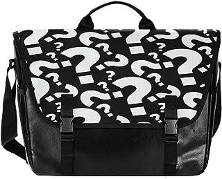 Bolso de lona para hombre y mujer, diseño retro, color negro y blanco