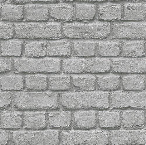 Rasch Tapeten 226720 PapierTapete Rasch Kollektion Steine & Hölzer, grau