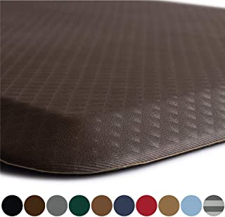 Kangaroo Original Standing Mat Kitchen Rug, Anti Fatigue Comfort Flooring, Phthalate Free, Commercial Grade Pads, Waterproof, Ergonomic Floor Pad for Office Stand Up Desk, 32x20, Brown