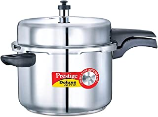 Prestige PRDA8 Deluxe Alpha Induction Base Pressure Cooker, 8-Liter, Stainless Steel