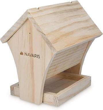 "Navaris DIY Bird House Kit - 6.7"" x 5.1"" x 6.9"" Build Your Own Wood Birdhouse Outdoor Garden Bird Table Feeder Bo"