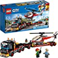 LEGO City Heavy Cargo Transport 60183 Toy Truck Building Kit with Trailer, Toy Helicopter and Construction Minifigures for Creative Play (310 Pieces) from LEGO