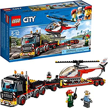 LEGO City Heavy Cargo Transport 60183 Toy Truck Building Kit with Trailer Toy Helicopter and Construction Minifigures for Creative Play  310 Pieces   Discontinued by Manufacturer