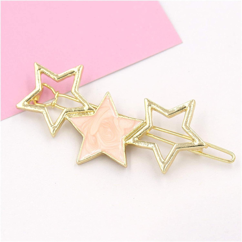 YUMYANJIN Hairpin 1PC Fashion Women Alloy Star Ranking Cheap bargain integrated 1st place Acetate Hair Clip