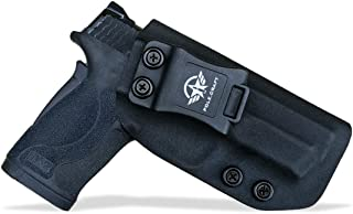 IWB Kydex Holster Fits: Smith & Wesson M&P 380 Shield EZ for Concealed Carry M&P 380 EZ Holster - S&W 380 EZ IWB Holster M&P Shield 380 EZ Concealed Holster - Cover Mag-Button - No Wear - No Jitter