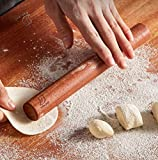 mwant Mattarello in Legno Massiccio per Utensili da Forno per Uso Domestico Durevole e Facile da Pulire Adatto a Biscotti per Pizza da Forno per Cucina Domestica con strumenti-420 * 27mm