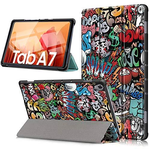 HYMY Custodia per Tablet Samsung Galaxy Tab A7 10.4  2020 - Flip Case Cover with Support Fonction per Samsung Galaxy Tab A7 10.4  2020 -TY