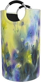 N\A Grand Panier à Linge, Sac à vêtements coloré Aquarelle Sunny Meadow, Panier Pliable en Tissu 82L, bacs de Lavage plian...