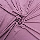 Mauve Dark Crepe Viscose Fabric Jersey Knit Viscose Jersey Fabric Soft Fabric Viscose