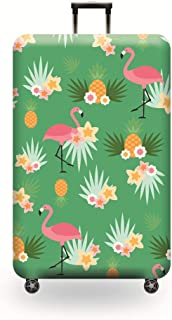 Washable Travel Luggage Cover Baggage Suitcase Protector Fit for 22-24 Inch Luggage M 22-24 inch luggage Flamingo