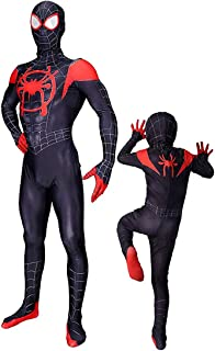 Halloween Costume Miles Morales Cosplay Toddler Spider Verse Jumpsuit Gwen Bodysuit Kids and Adult Tights