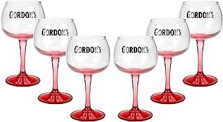 Gordons Gin Premium Pink Glas Longdrinkglas Ballonglas Cocktailglas Gläser Set  6 Stück
