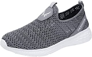 LUKALUKADA Fashion Men's Running Shoes Men's Mesh Breathable Lightweight Outdoor Sports Shoes Running Shoes