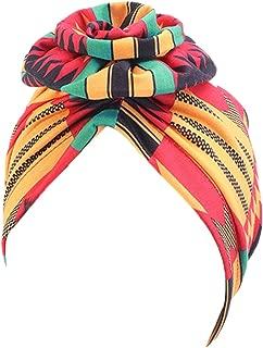 Turbans Flower Hat for Women Pre-Tied Bonnet Cap Bohemian Hat Cotton Hair Loss Cap