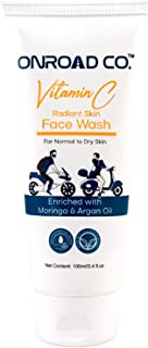 Onroad Co. Vitamin C Face Wash | Especially for Normal to Dry Skin | Enriched with Moringa and Argan OIl | No Sulphates & ...