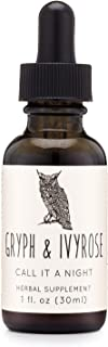 Gryph & IvyRose Call it a Night Herbal Drops - Organic Sleep Support for Kids - Melatonin-Free Drops for Children - Mix an...