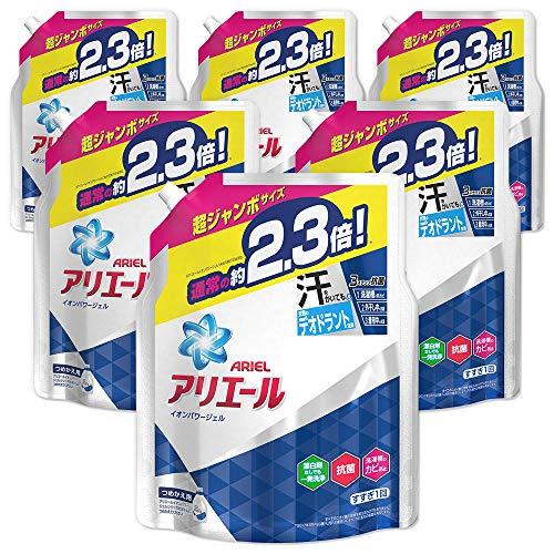 『【ケース販売】アリエール 液体 抗菌 洗濯洗剤 詰め替え 超ジャンボ1.62kg×6個』の1枚目の画像