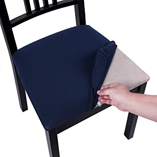 Homaxy Premium Jacquard Dining Room Chair Seat Covers, Washable Spandex Stretch Dinning..