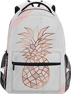 Pink Pineapple Backpack School Bag Travel Rucksack for Students Teen Girls
