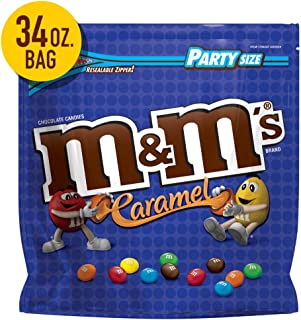 M&M'S Caramel Chocolate Candy Party Size, 34-Ounce Bag